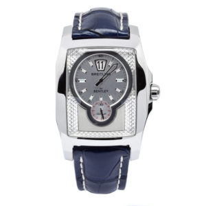Breitling Bentley Flying B Jumping Hour Stainless Steel Case w/Blue Leather Strap - A28362 Dial