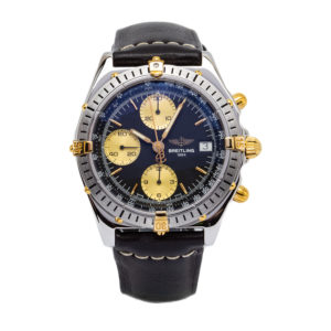 Breitling Chronomat / Crosswind 18kt Yellow Gold/SS W/Blue Dial - B13048 Dial