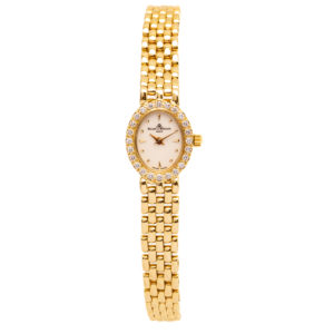 Baume & Mercier Ladies Geneve 14kt Yellow Gold & .50ct Diamond Bezel - MX000M1J Dial