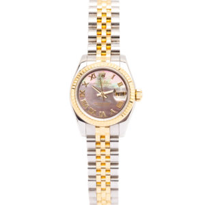 Rolex Ladies Datejust 26mm Twotone 18kt Yellow Gold/Stainless Steel w/MOP Dial - 179173 Dial