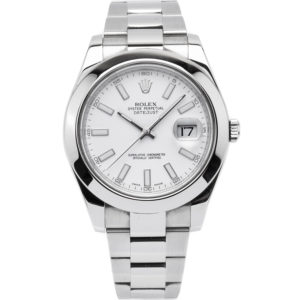 Rolex Datejust II 41mm Stainless Steel w/White Index Dial - 116300 Dial